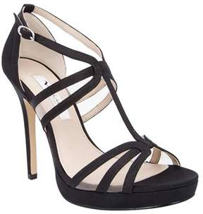 Nina Womens Fanetta Open Toe Ankle Strap D-orsay Pumps.