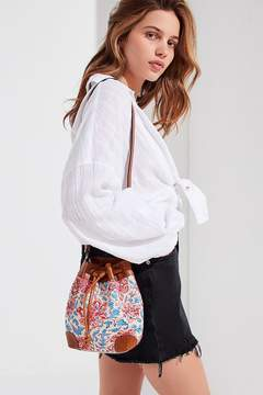Urban Outfitters Canvas Crossbody Bucket Bag