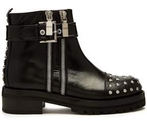 Alexander McQueen Stud-embellished leather biker boots