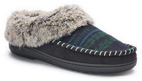 Dearfoams Women's Faux Fur Lined Jacquard Clog Slippers