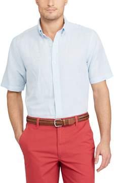 Chaps Big & Tall Classic-Fit Linen-Blend Button-Down Shirt