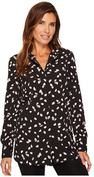 Ellen Tracy Boyfriend Shirt Women's Blouse