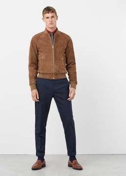 Mango Outlet Suede bomber jacket