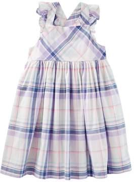 Osh Kosh Oshkosh Bgosh Toddler Girl Cross-Back Plaid Dress