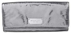 MICHAEL Michael Kors Metallic Embossed Clutch