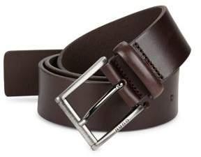 HUGO Five-Notch Leather Belt
