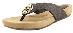 Giani Bernini Racchel Open Toe Synthetic Thong Sandal.