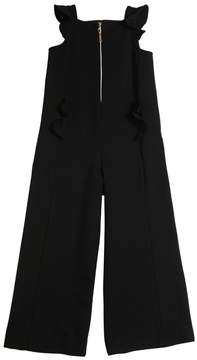 Simonetta Milano Jersey Jumpsuit W/ Ruffles