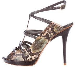 Derek Lam 10 Crosby Embossed Leather Sandals