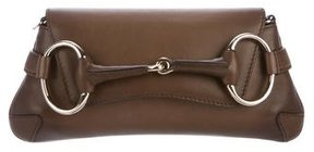 Gucci Small Horsebit Clutch - BROWN - STYLE