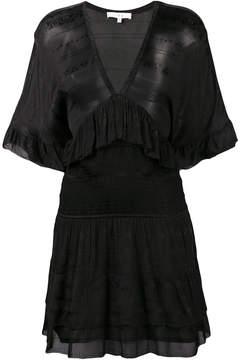 IRO V-neck ruffle dress
