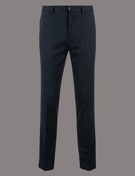 Marks and Spencer Slim Fit Textured Chinos