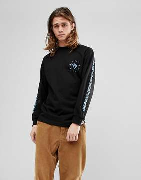 Diamond Supply Co. Long Sleeve T-Shirt With Outshine Sleeve Print in Black