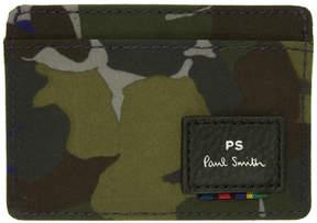 Paul Smith Multicolor Camo Card Holder