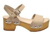 Windsor Smith Women's Beige Leather Sandals.