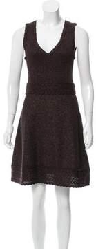 Andrew Gn Metallic-Accented Mini Dress