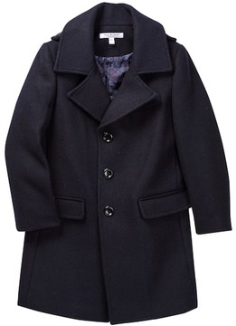 Isaac Mizrahi Single Breasted Wool Blend Peacoat (Toddler, Little Boys, & Big Boys)