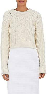 Calvin Klein Women's Cable-Knit Wool Crop Sweater