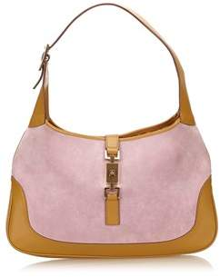 Gucci Pre-owned: Suede Leather Jackie. - PINK X BROWN X LIGHT BROWN - STYLE