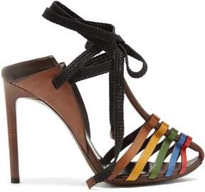Saint Laurent Majorelle & Mansour leather sandals