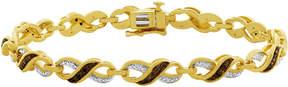 Black Diamond FINE JEWELRY 1/4 CT. T.W. White, Champagne & Color-Enhanced Bracelet