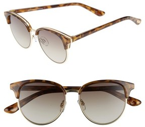 Le Specs Women's Deja Vu 51Mm Round Sunglasses - Milky Tortoise