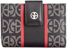 Giani Bernini Block Signature Stripe Frame Wallet