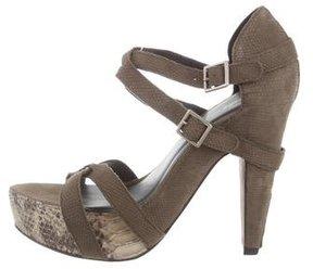 Elizabeth and James Embossed Platform Sandals