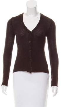 Donna Karan Cashmere Long Sleeve Cardigan