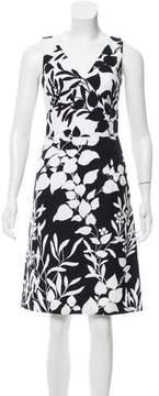 Barneys New York Barney's New York Floral Print Knee-Length Dress