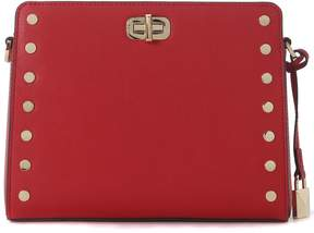 Michael Kors Sylvie Leather Messenger Bag With Studs - ROSSO - STYLE
