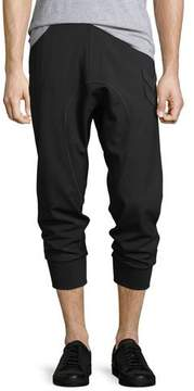 Neil Barrett Drop-Crotch Jogger Pants w/ Military Patches