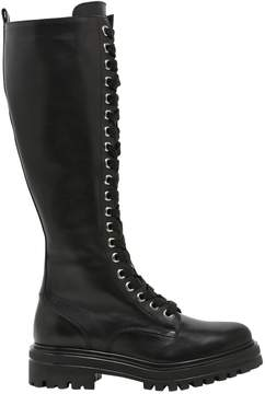 Janet & Janet 30mm Leather Lace-Up Boots