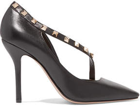 Valentino Rockstud Two-tone Leather Pumps - Black