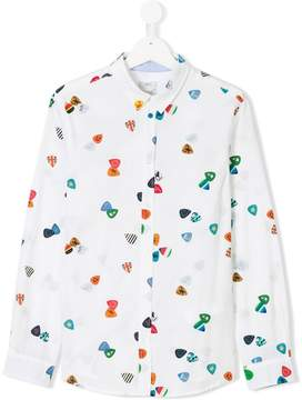 Paul Smith Teen plectrum print shirt