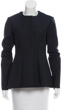 Cédric Charlier Pleated Virgin Wool-Blend Jacket