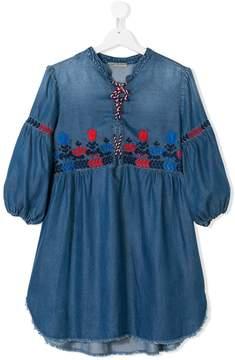 Ermanno Scervino TEEN embroidered denim tunic top