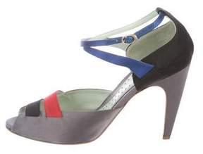 Etro Satin Crossover Sandals
