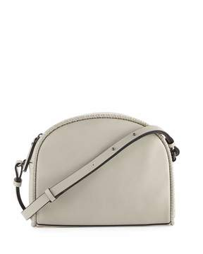 French Connection Marlee Halfmoon Stitched Crossbody Bag, Gray