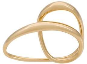 Charlotte Chesnais Heart two-finger gold-plated ring