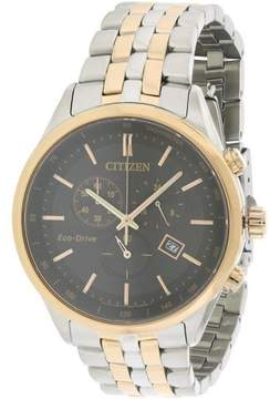 Citizen World AT2146-59E Silver/Black Analog Eco-Drive H54 Men's Watch