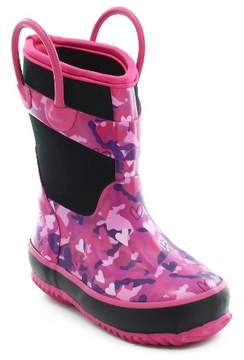 Western Chief Toddler Girls' Heart Camo Neoprene Rain Boot - Pink