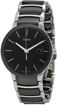Rado Centrix Black Dial Stainless Steel and Black Ceramic Men's Watch