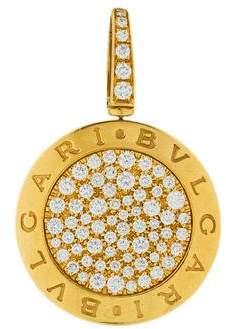 Bvlgari Pavé Diamond Circle Pendant