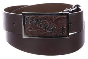 Salvatore Ferragamo Logo-Embellished Leather Belt