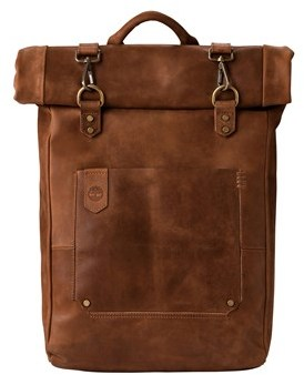 Timberland Walnut Hil Leather Roll Top Backpack.