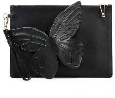 Sophia Webster Flossy 3D Butterfly Leather Clutch