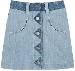Stella McCartney Kids' Stretch-Denim A-Line Skirt