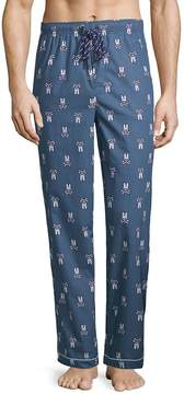 Psycho Bunny Men's Printed Woven Cotton Pajama Pants