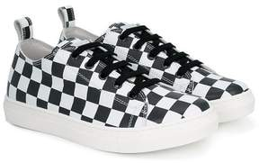 DSQUARED2 checkered sneakers